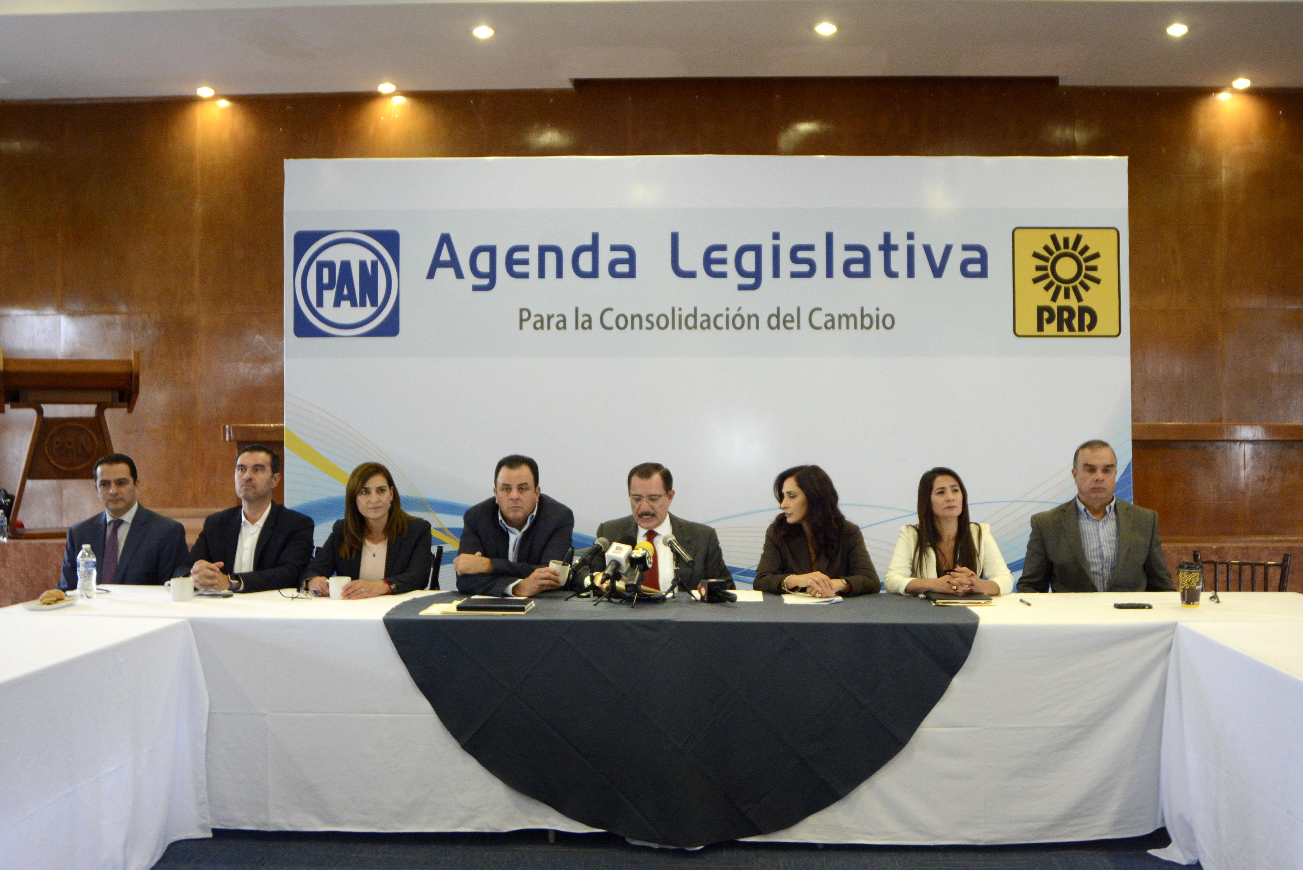 """Presentan PAN-PRD Agenda Legislativa """"Para la Consolidación del Cambio"""""""