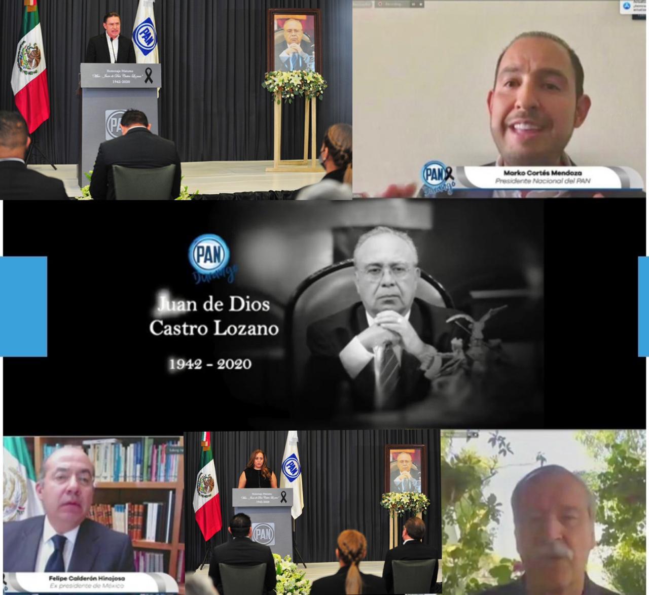 PAN Durango realiza Homenaje Póstumo al Mtro. Juan de Dios Castro Lozano.